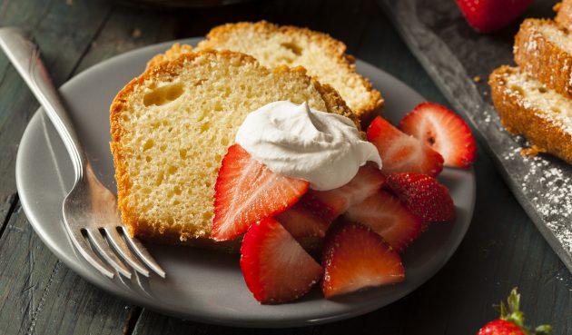 Ванильный пирог без яиц и молока