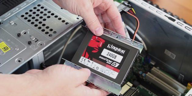 Как подключить SSD к стационарному компьютеру: установите и закрепите SSD