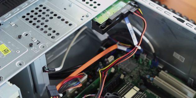 Как подключить SSD к стационарному компьютеру: определите место установки