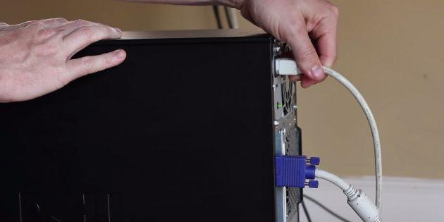 Как подключить SSD к стационарному компьютеру: отключите питание и отсоедините кабели