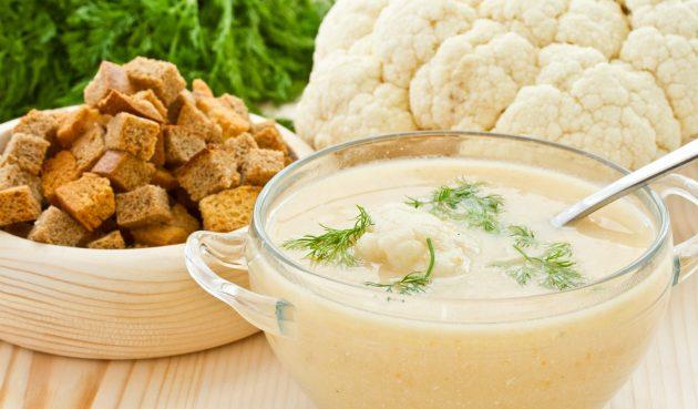 Самый простой крем-суп из цветной капусты