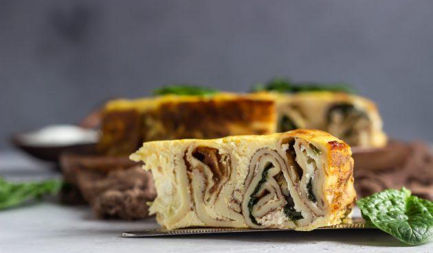 Блинный пирог «Улитка»