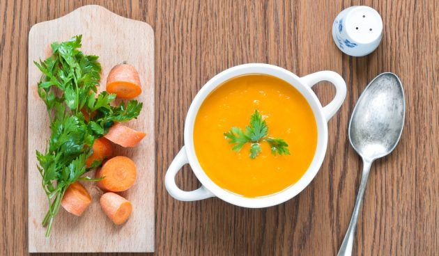 Суп-пюре с репой и морковью