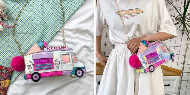 Необычная сумка в виде фургона с мороженым