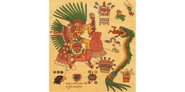 Культура ацтеков: рисунки из ацтекского календаря
