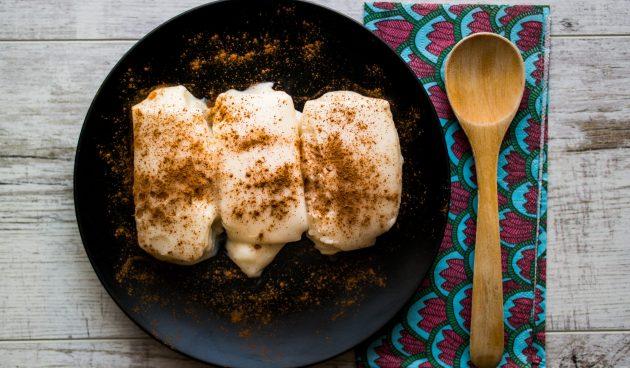 Тавук гёксу — десерт из куриной грудки