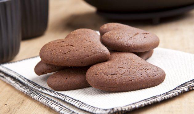 Постное шоколадное печенье