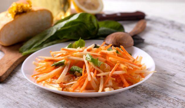 Салат с репой и изюмом