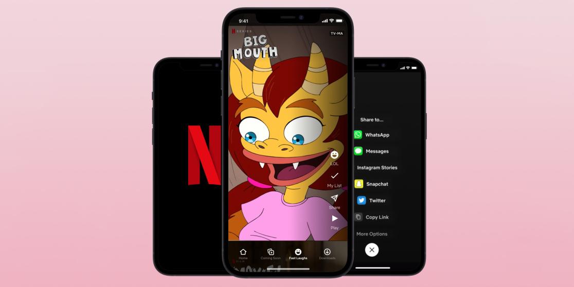 В Netflix для iPhone появился аналог TikTok
