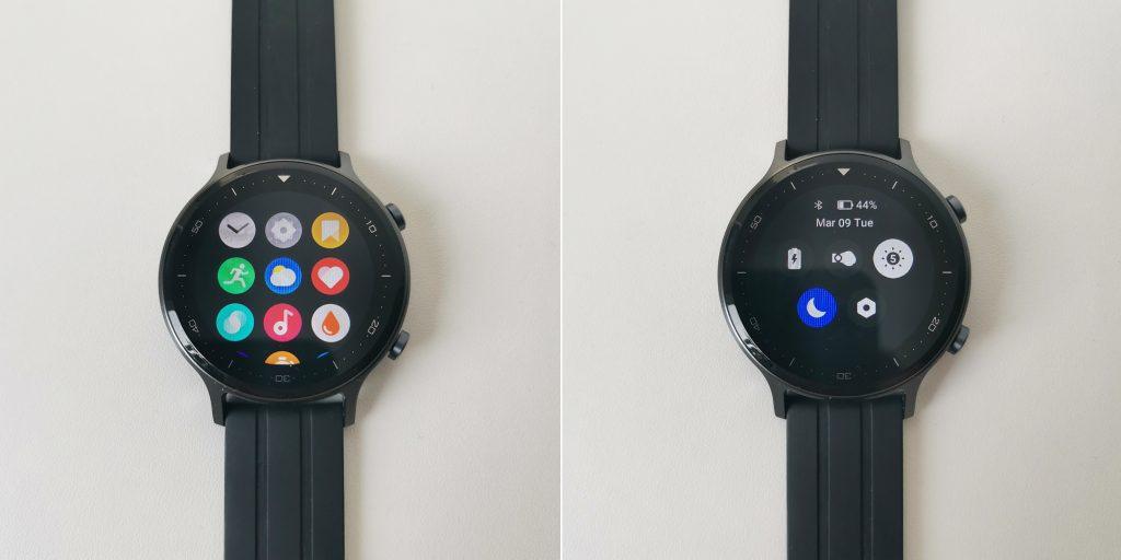 Обзор Realme Watch S: меню и шторка