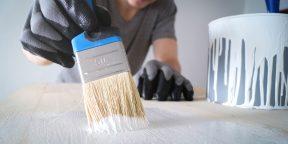 Лайфхак: как легко очистить кисточку от засохшей краски