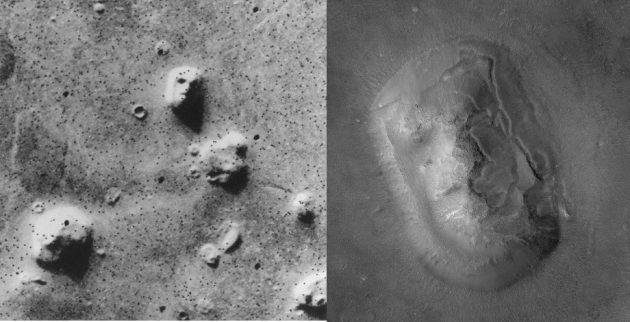 «Лица» на поверхности Марса — пример апофении
