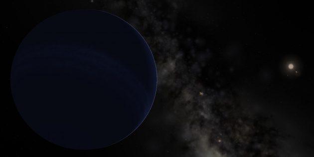 Космос: гипотетическая «Девятая планета», смоделированная в программе Celestia