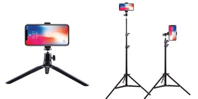 Штатив для смартфона с AliExpress с телескопической конструкцией