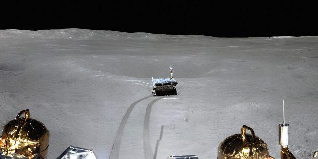 Фотография «Нефритового зайца — 2» на Луне, сделанная «Чанъэ-4». «Заяц» есть, американцев нет