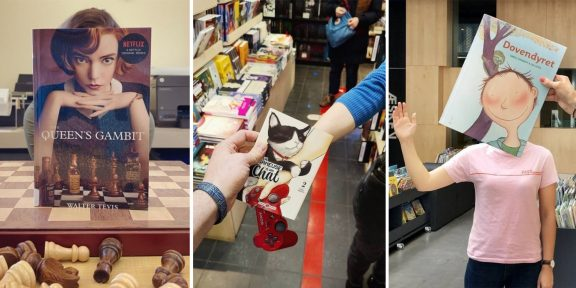 В Сети набирает обороты челлендж Bookface, где обложки книг и журналов идеально дополняют фото людей