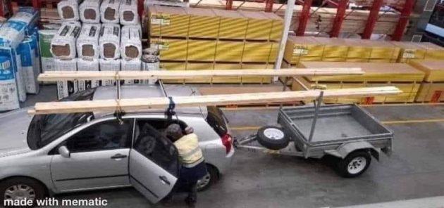 Интересно, как водитель собрался поворачивать