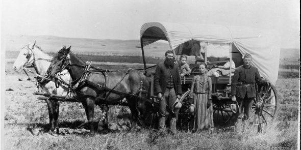 Поселенцы, двигающиеся на Запад