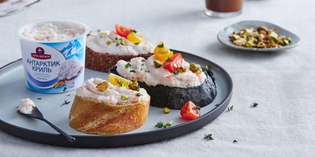 Рецепты закусок с пастой «Антарктик Криль»