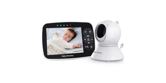 Видеоняня с AliExpress EOENKK Baby Monitor