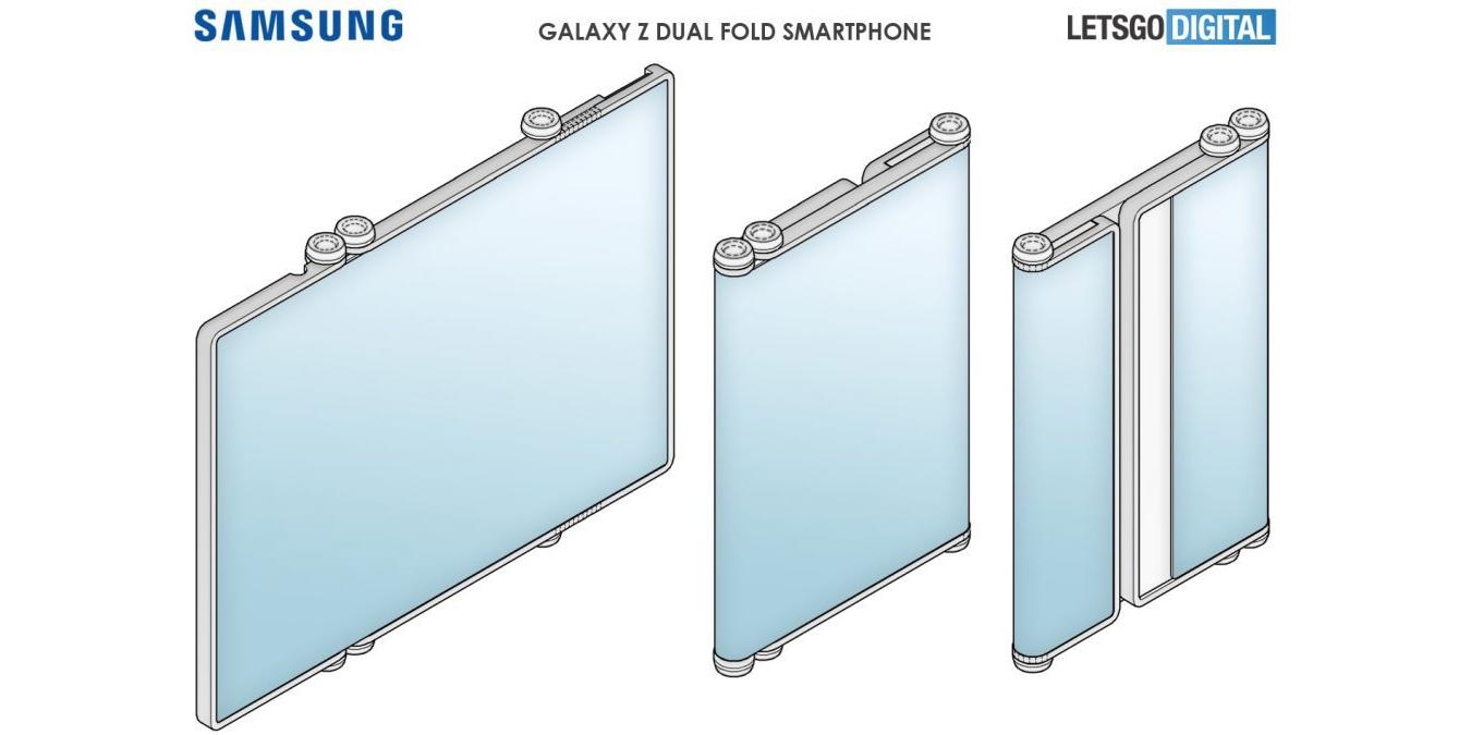 Samsung готовит новый смартфон-планшет, который будет сгибаться с двух сторон