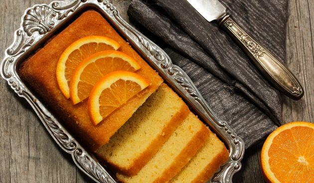 Веганский апельсиновый кекс