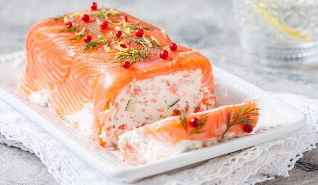 Террин из солёного лосося
