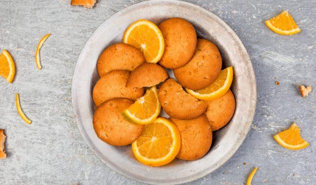 Постное апельсиновое печенье