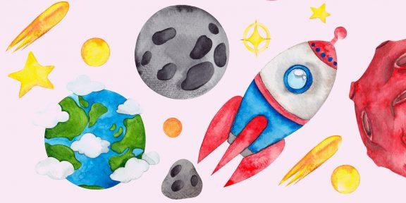 18 способов нарисовать ракету, которые по силам даже ребёнку