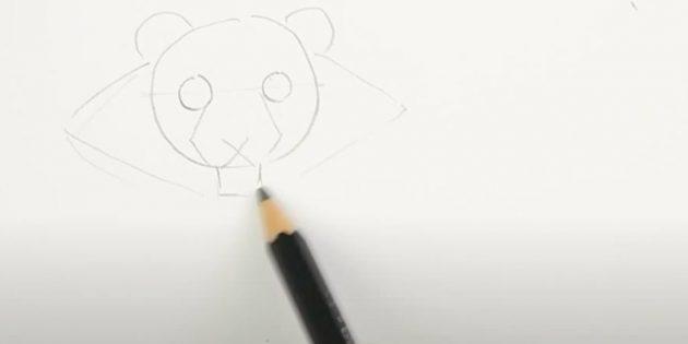 Как нарисовать тигра: Наметьте шерсть вокруг головы