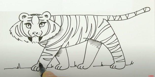 Нарисуйте полоски