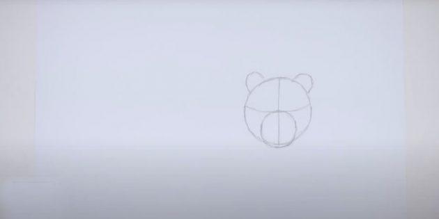 Как нарисовать тигра: Впишите внутрь ещё один круг