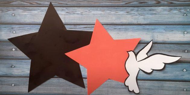 Поделки к 9Мая: Сделайте звёзды и птицу