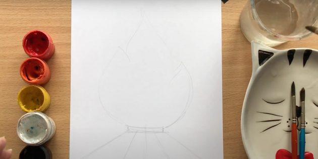 Рисунки на 9Мая: добавьте пламя