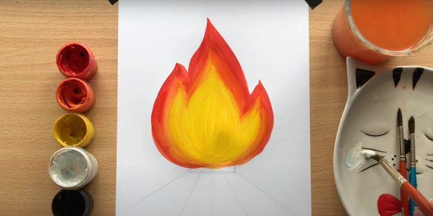 Рисунки на 9Мая: раскрасьте пламя