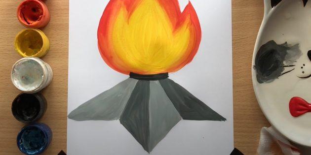 Рисунки на 9Мая: закрасьте звезду