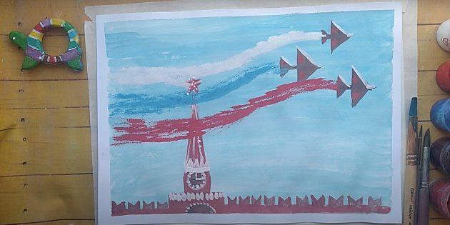 Рисунки на 9Мая: парад Победы
