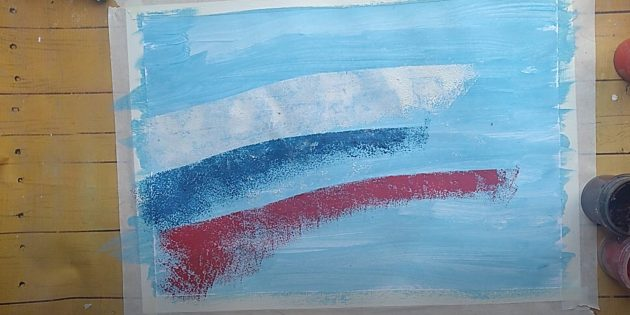 Рисунки на 9Мая: закрасьте фон и сделайте линии