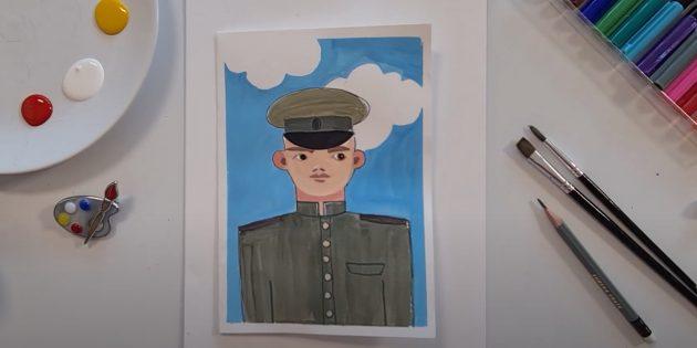 Рисунки к 9Мая: солдат