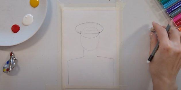 Рисунки к 9Мая: добавьте фуражку