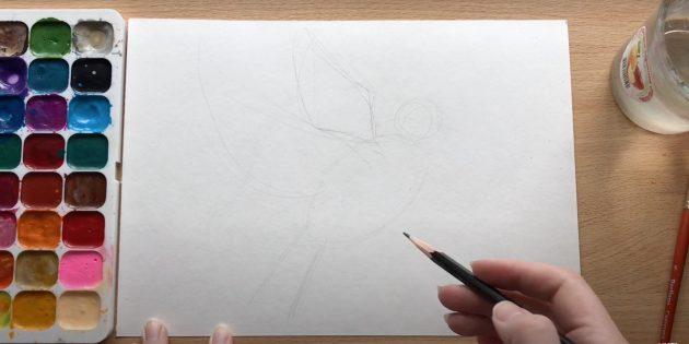 Рисунки на 9Мая: наметьте голубя