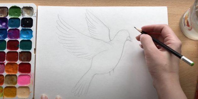Рисунки на 9Мая: добавьте шею и перья