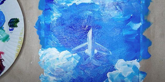 Как нарисовать самолёт: закрасьте самолёт