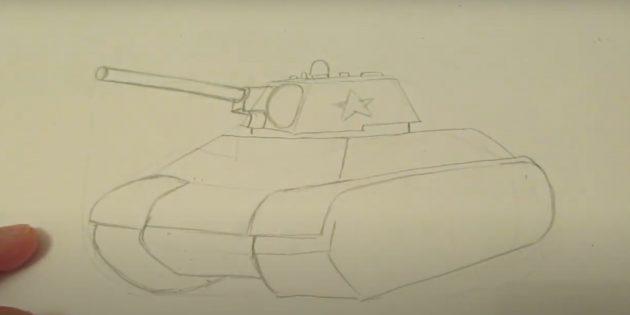 Нарисуйте пушку и звезду
