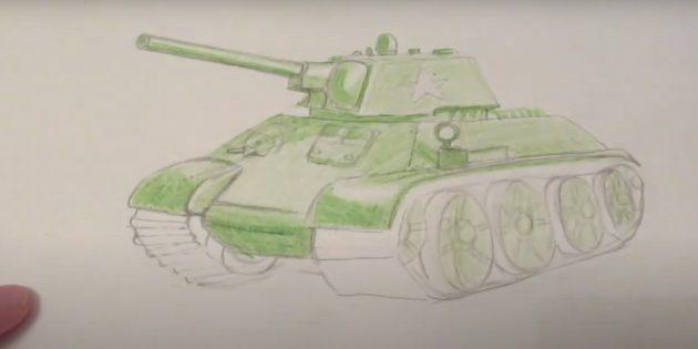 Сделайте танк зелёным