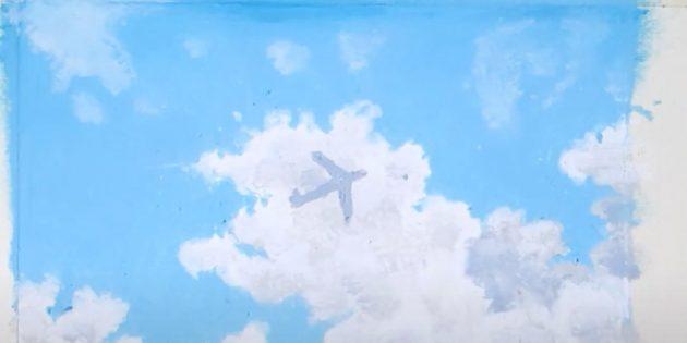 Как нарисовать самолёт: наметьте самолёт