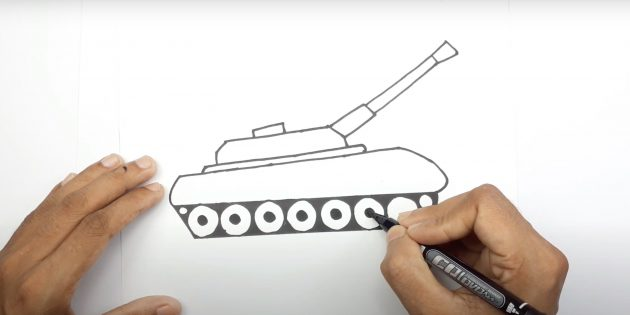 Рисунок танка маркером