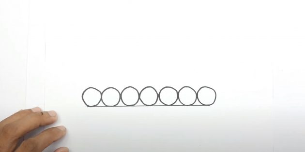 Как нарисовать танк: нарисуйте колёса