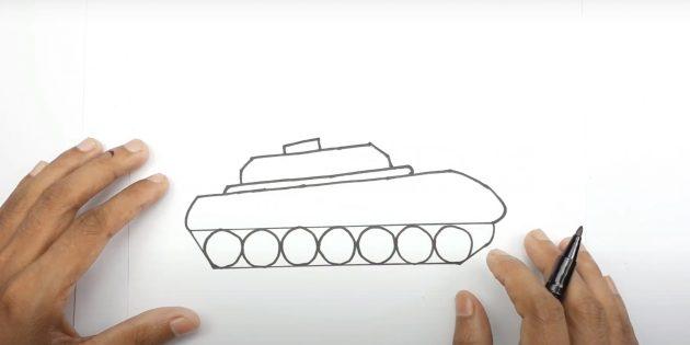 Нарисуйте башню танка