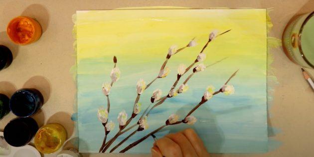 Рисунки на Пасху: сделайте цветки пушистыми